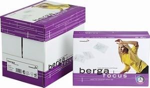 Папір офісний білий А4 , 500 аркушів, клас С, щільність 80 гр/м2 Berga Focus